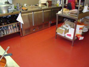 Keuken van Restaurant Mont Blanc epoxyvloer