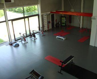 PU vloer donkergrijs fitness