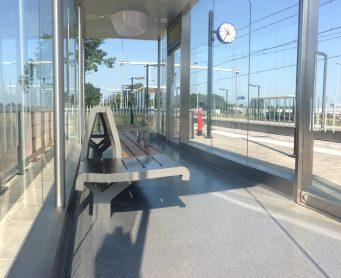Prorail wachtruimte station TF9000 troffelvloer