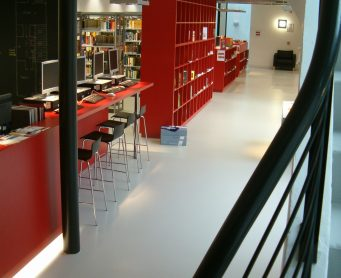 epoxy betonlook Bibliotheek Elsene Belgie