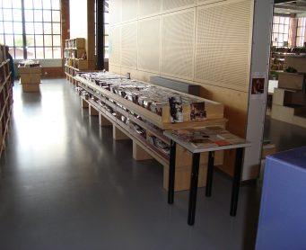 epoxyvloer grijs Bibliotheek l'Ouate Belgiâ