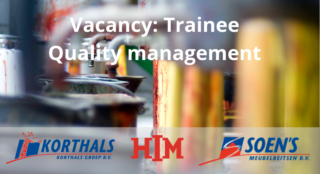 Vacancy: Trainee Quality management