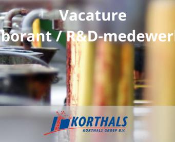 Vacature: Laborant / R&D-medewerker